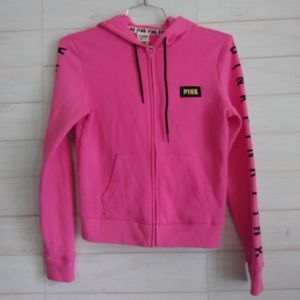 Pink Victoria secret Women's zip up Hoodie